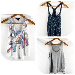 Forever 21 Assorted Tank Tops bundle of 3, M